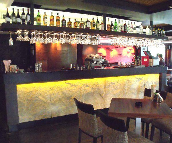 Професионален баров модул с декорация Камък