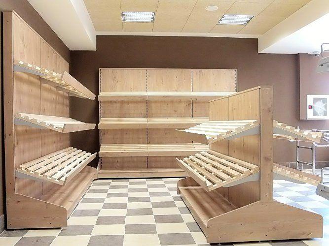 Бутиков стелаж за продажба на плодове и зеленчуци 970 / 610 / 2250