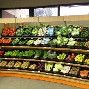 Стелажи за плодове и зеленчуци